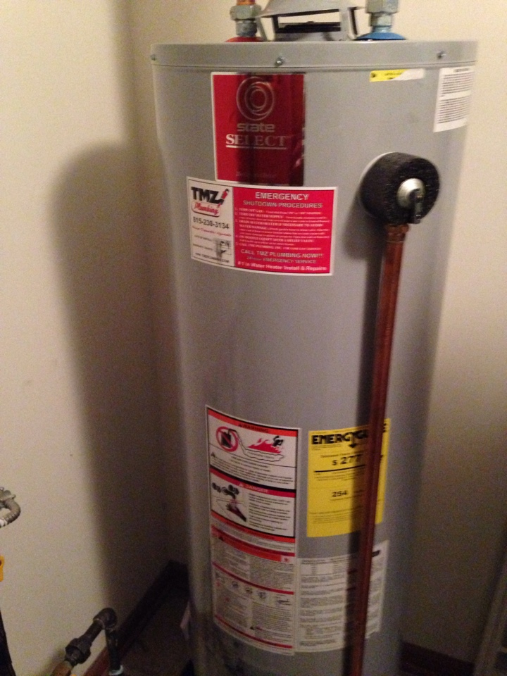 Oswego, IL - Installed new 40 gallon state select water heater