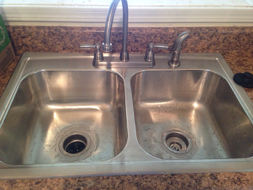 Aurora, IL - Installed new kitchen sink with faucet and garbage disposal