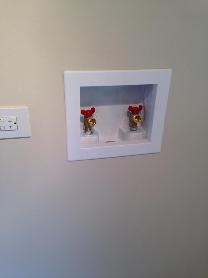 Naperville, IL - Installed new washing machine spigots