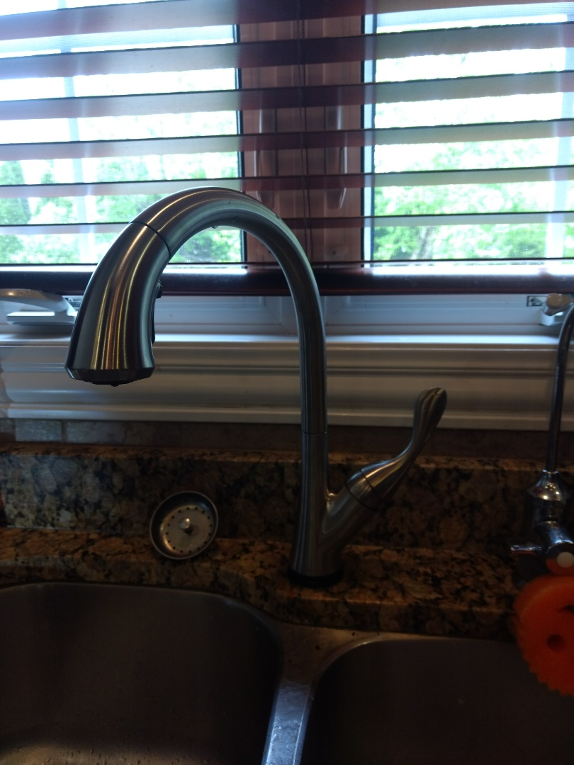 Plainfield, IL - Installed Delta touch faucet in kitchen sink. Installed brain box and battery pack.