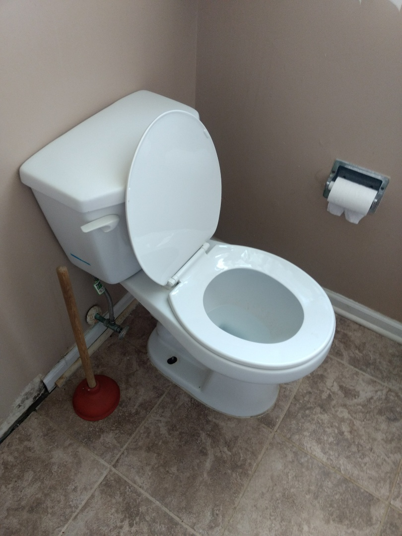 Bolingbrook, IL - Power rodded main underground sewer after total backup. Pulled and reset toilet in order to rod.