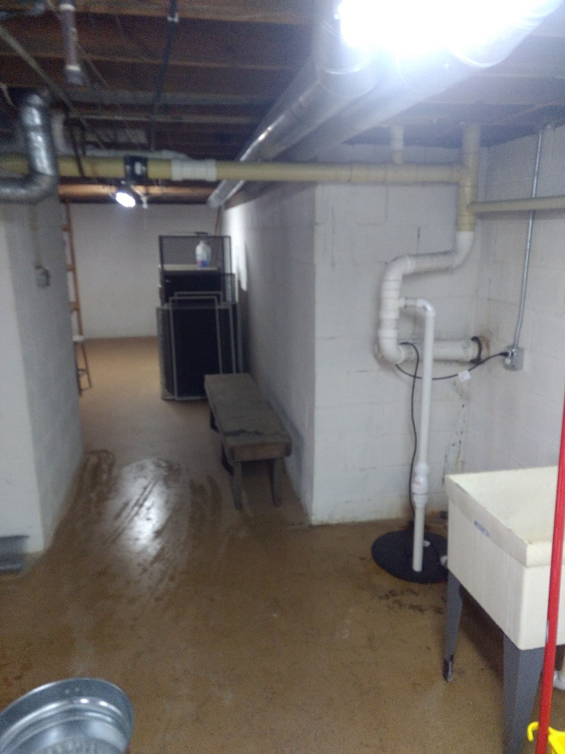 Oswego, IL - Day 3 of basement repiped. Cut out several old gate valves and unions, then replaced with new copper. Ran PVC vents line for floor drain and grey box. Tied into existing vent stack. Installed 5 angle stop shut-off valves. Install dishwasher tailpiece. Piped-in T and extra angle stop for dishwasher water feed.