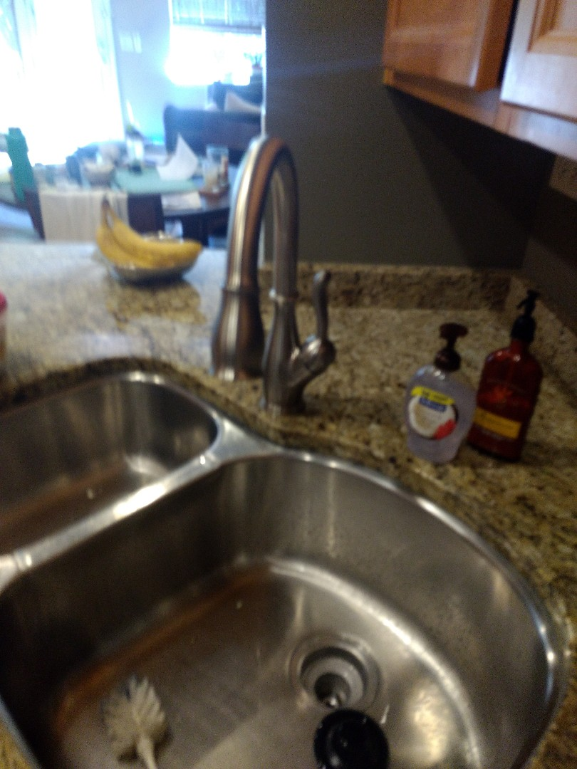 Naperville, IL - Installed new customer supplied kitchen sink faucet. Installed new fill valve & Supply line in downstairs toilet, in Naperville.