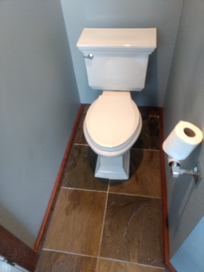Naperville, IL - Reset toilet using two wax rings, in Plainfield.