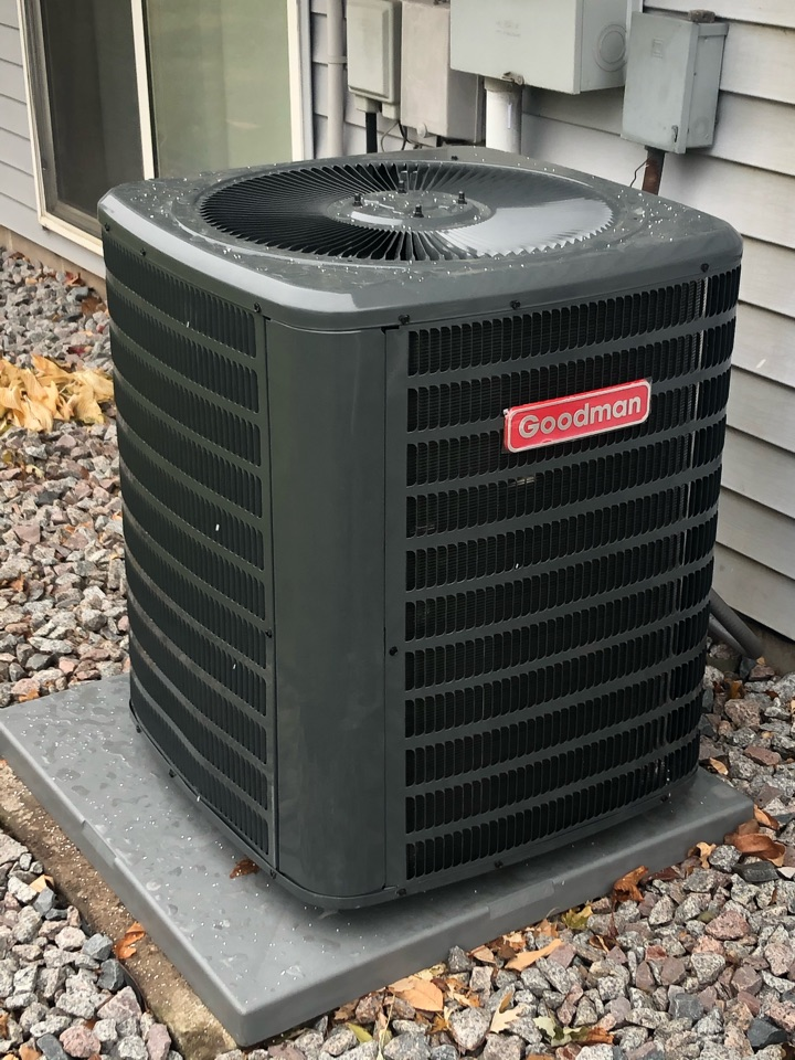 Monticello, MN - Quality check on installation of Goodman AC