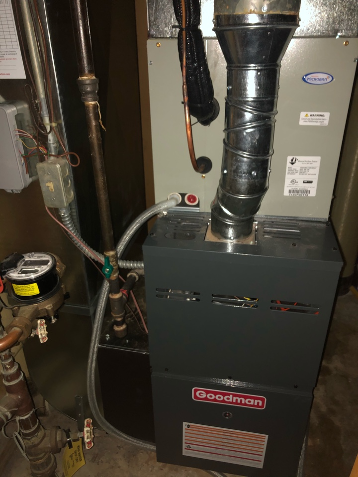 Maple Grove, MN - Quality check on installation of Goodman two stage furnace & 16 SEER AC.
