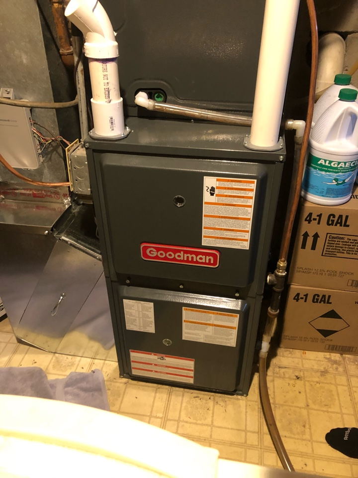 Andover, MN - Quality check on installation of Goodman high efficiency furnace & AC