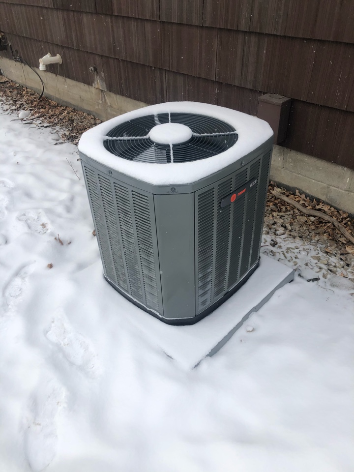 Hopkins, MN - Quality check on installation of Trane high two stage variable speed furnace & 16 SEER AC