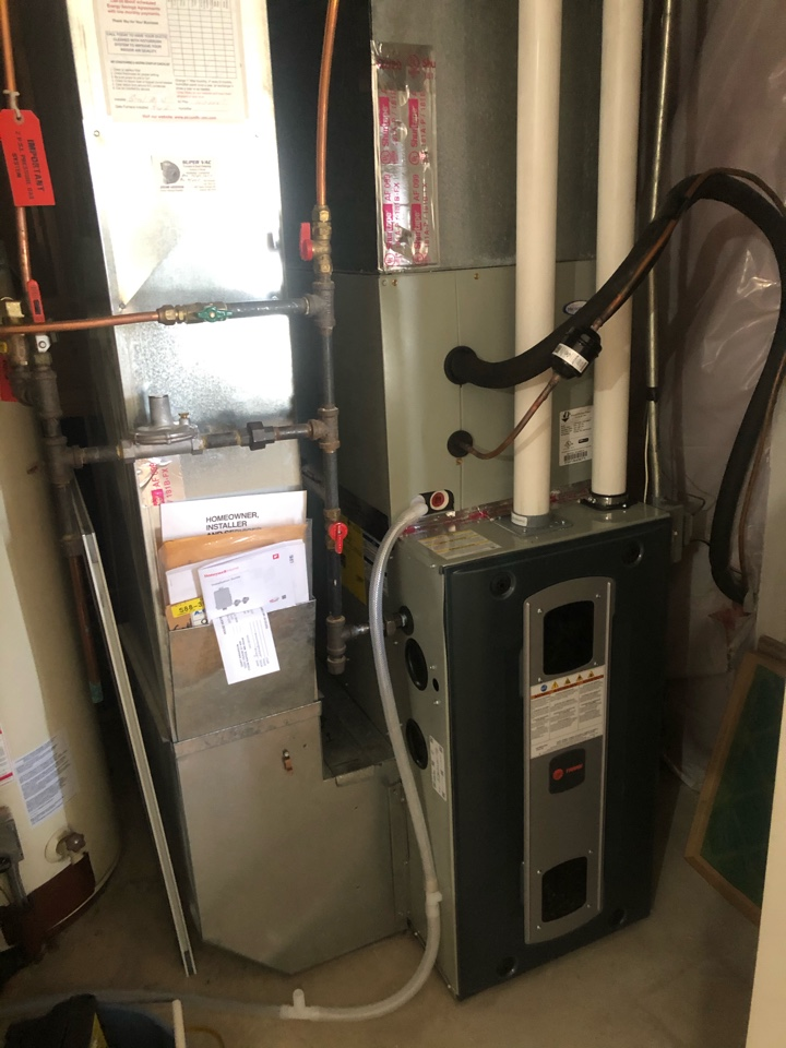 Quality check on installation of Trane high efficiency two stage furnace & XR13 AC