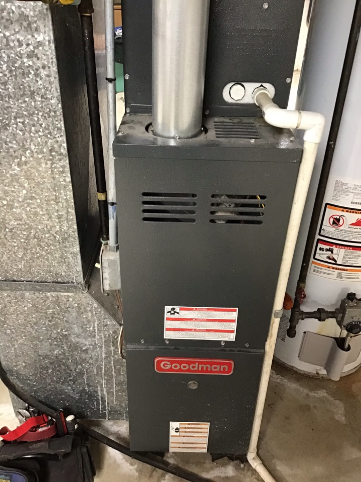 Shelby Charter Township, MI - Performed a annual safety inspection and cleaning on a Goodman furnace.