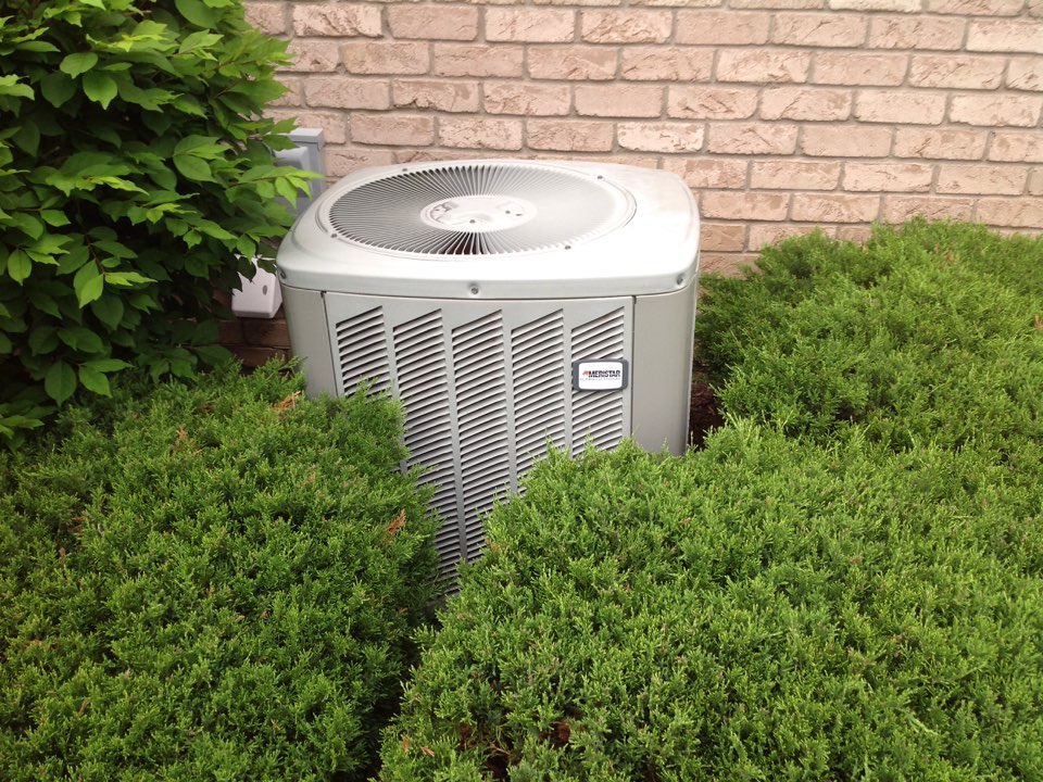 Clarkston, MI - Maintenance on a residential American standard air conditioner in clarkston.