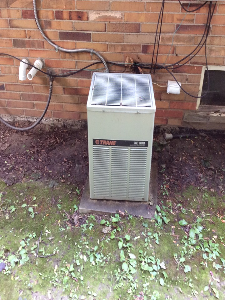 Oak Park, MI - Performed and completed a tune up on a Trane AC.