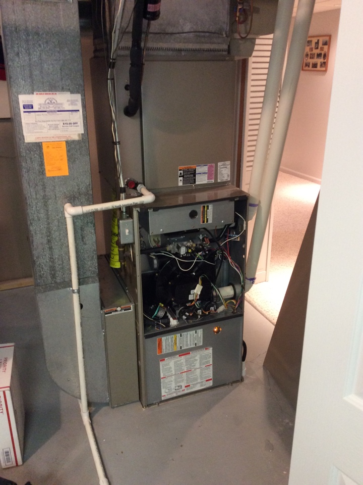 Birmingham, MI - Removed, unblocked, flushed, and reinstalled a condensate trap on a Bryant furnace.