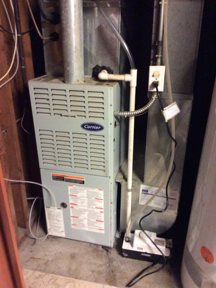 Armada, MI - Repaired a Carrier furnace.