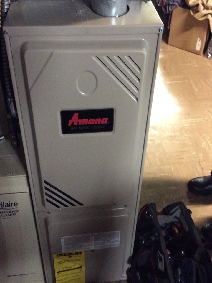 Eastpointe, MI - Repaired an Amana furnace