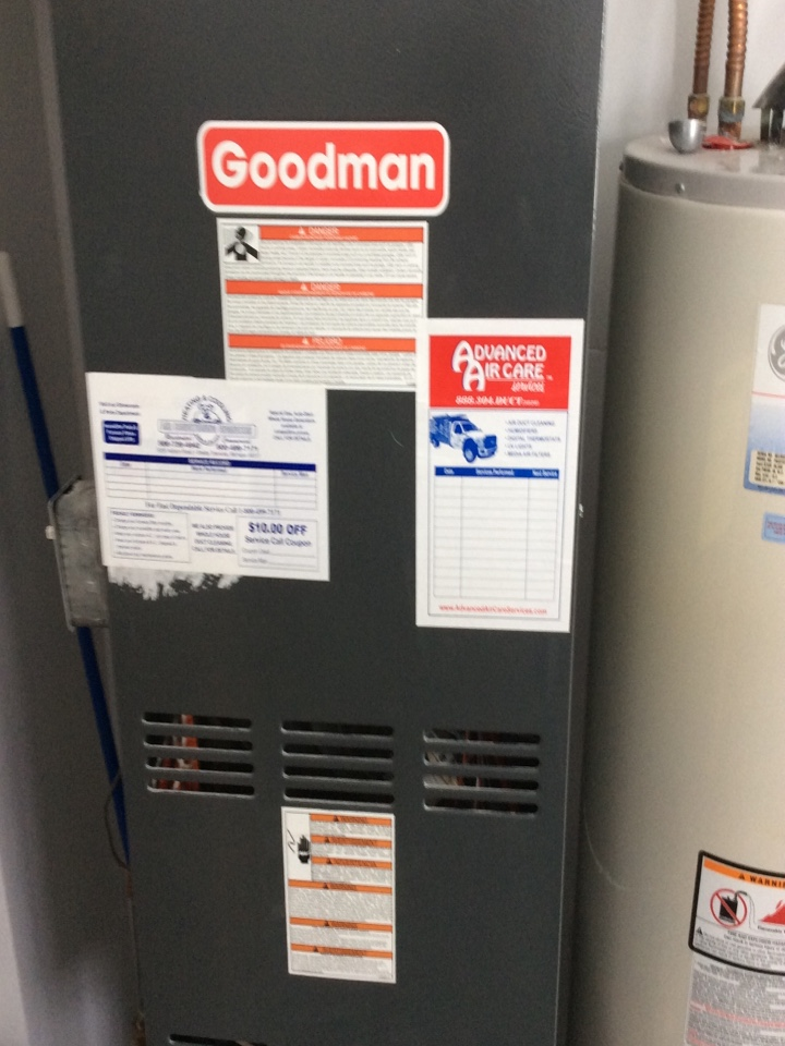 Fraser, MI - Repaired a Goodman furnace.