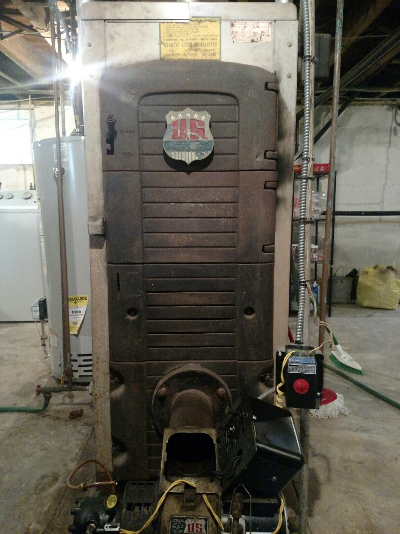 Camden, NJ - Annual maintenance on an oil fired boiler.