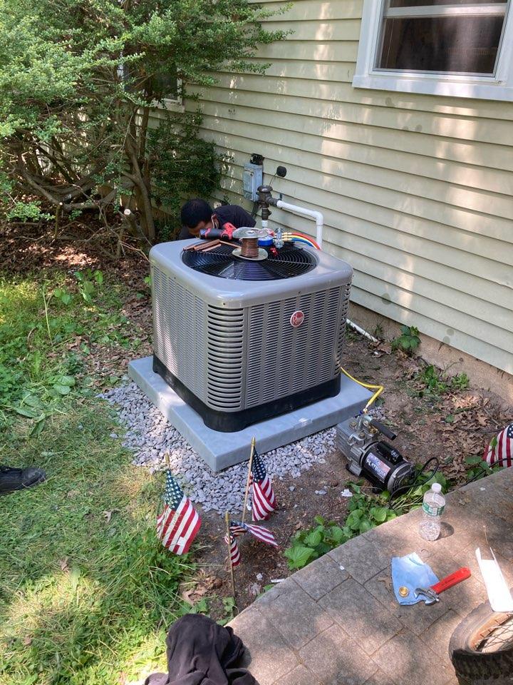 Westampton, NJ - Install coil condenser.relocate condenser