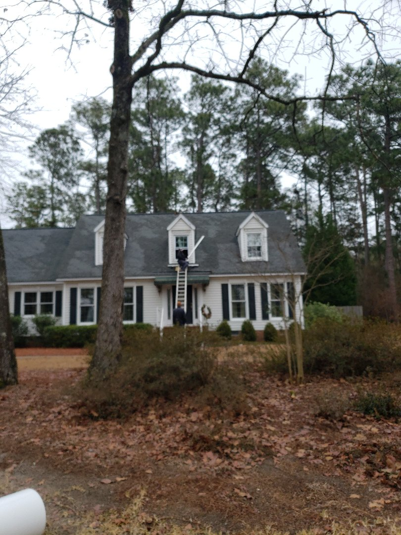 Aiken, SC - Residential vinyl window replacement with custom bent trim coil in aiken with South Point Roofing and Construction