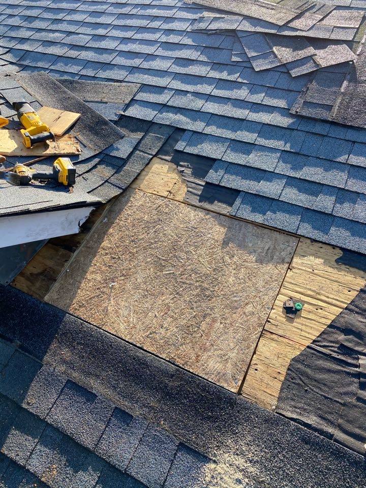 Aiken, SC - South Point Roofing and Construction replacing 3in1 plumbing boots on a residential roof, as well as replacing decayed sheeting on roof underneath dead valley in Aiken, SC.