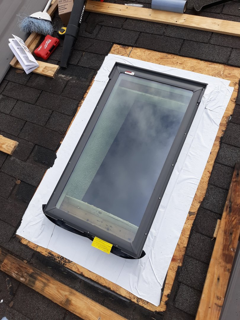 Windsor, SC - Residential roofer South Point Roofing and Construction is installing a Velux skylight in Williston, South Carolina.