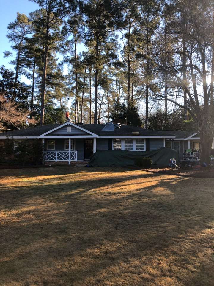 Aiken, SC - Another residential roof replacement in Aiken SC by South Point Roofing & Construction, Inc. Using IKO Cambridge architectural shingles and TriBuilt ridge vent