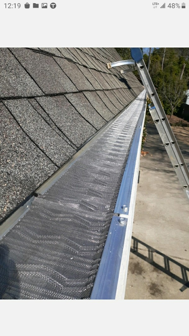 Aiken, SC - South Point Roofing and Construction is installing leaf blaster pro in Aiken, SC.
