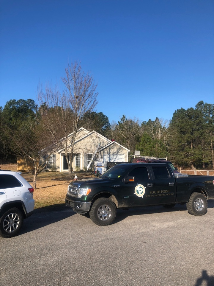 Warrenville, SC - Residential roof replacement by South Point Roofing & Construction, Inc. in Warrenville, SC using Atlas Glassmaster 3 tab shingles.