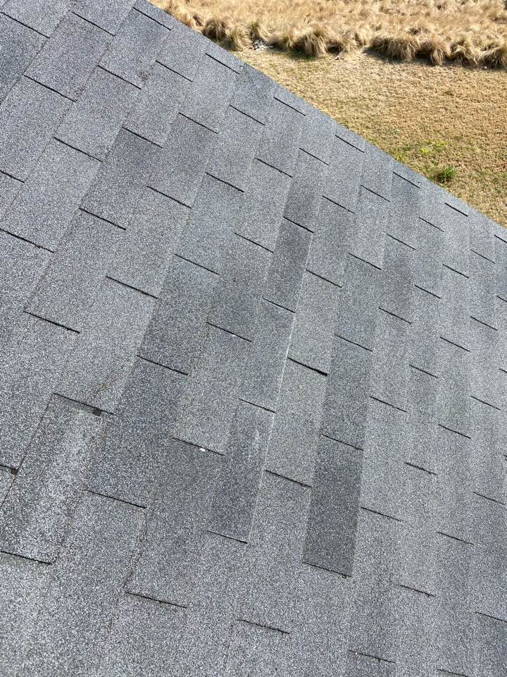 Graniteville, SC - South Point Roofing and Construction repairing wind blown shingles and replacing one 750 in Graniteville SC