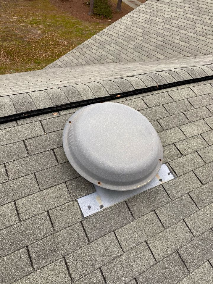 Warrenville, SC - South Point Roofing and Construction replacing 3in1 plumbing boot as well as removing existing attic fan on house in Gloverville SC