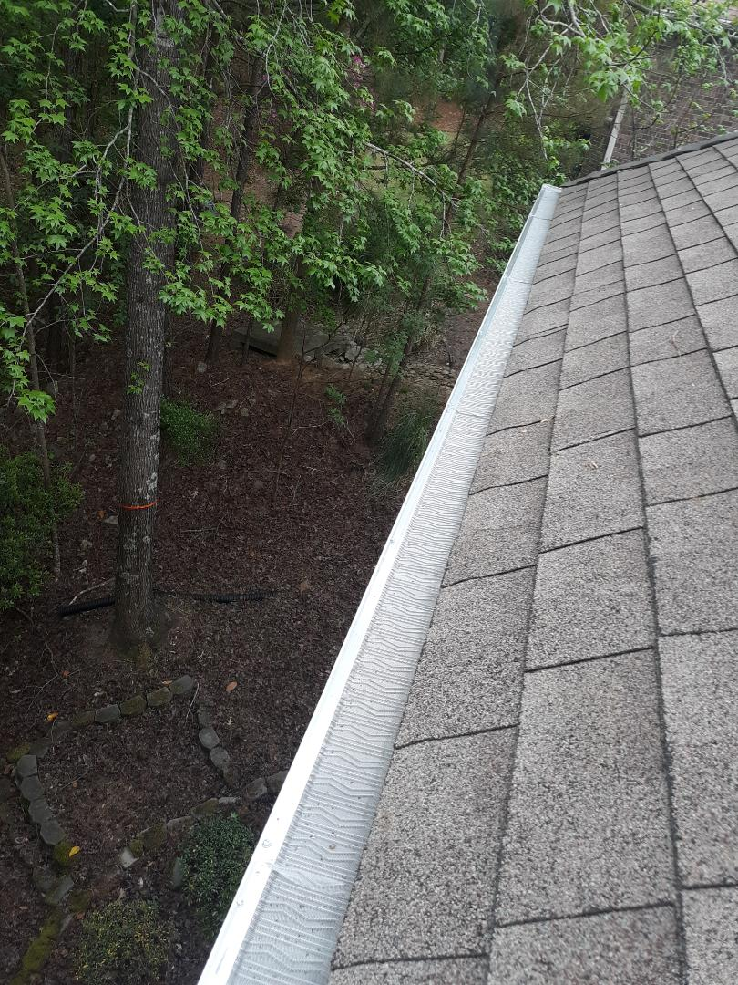 Aiken, SC - Gutters are great, but gutter guards are AMAZING! South Point Roofing and Construction is installing stainless steel leaf blaster pro gutter guards in Aiken, SC. We can install gutter guards on previously installed gutters to improve performance and decrease maintenance!  803-648-9399  www.southpointconstruction.net
