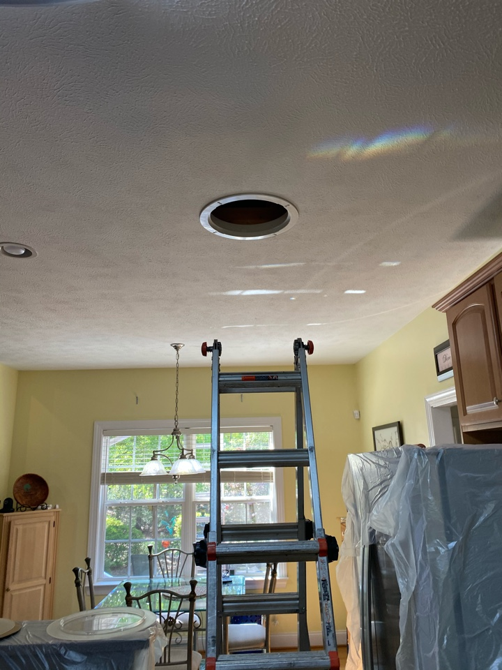 Aiken, SC - South Point Roofing and Construction installing new solar tubes and one new solar powered attic fan on a home in Cedar Creek in Aiken SC