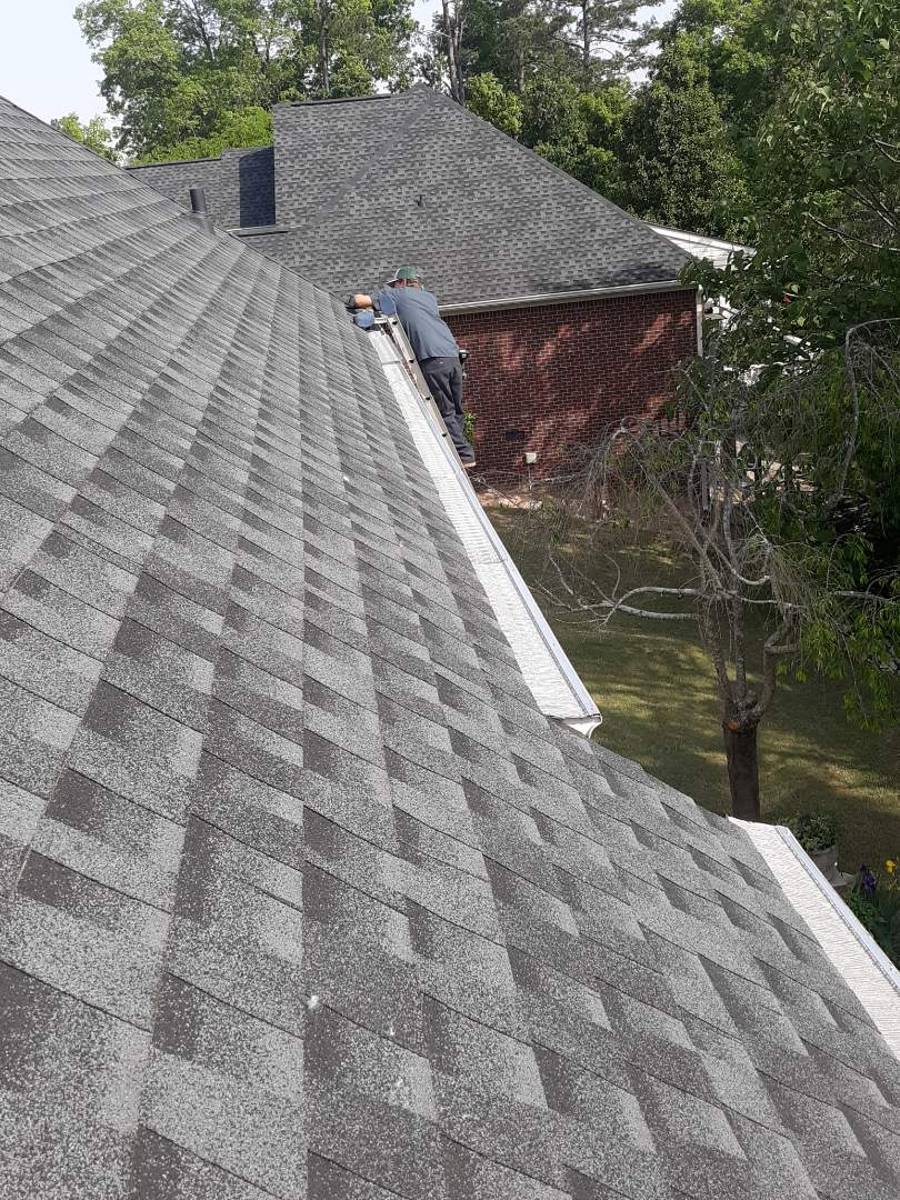 North Augusta, SC - South Point Roofing and Construction is installing LeafBlaster Pro gutter guards in North Augusta, SC.