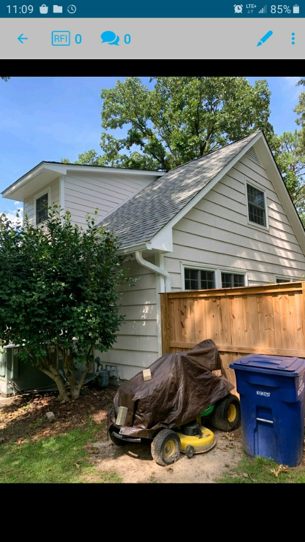 Aiken, SC - South Point Roofing and Construction is cleaning 6 inch gutter and gutter guards in Aiken, SC.