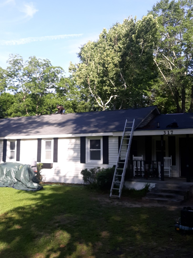 Aiken, SC - South Point Roofing and Construction is replacing a residential roof in Aiken, SC with new Atlas Pinnacle Pristine architectural shingles with Scotchguard by 3M.