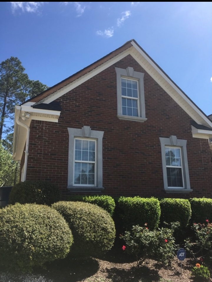 West Columbia, SC - South Point Roofing and Construction repairing some damaged Fascia metal and wind blown shingles caused by storms @ residence in Lexington SC