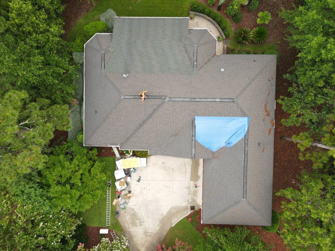 Aiken, SC - Residential roof replacement in Woodside neighborhood, Aiken,  SC  by South Point Roofing and Construction using Atlas Pinnacle Pristine architectural asphalt shingles with Scotchgarde by 3M.  Call the Pros Who Know! 803-648-9399