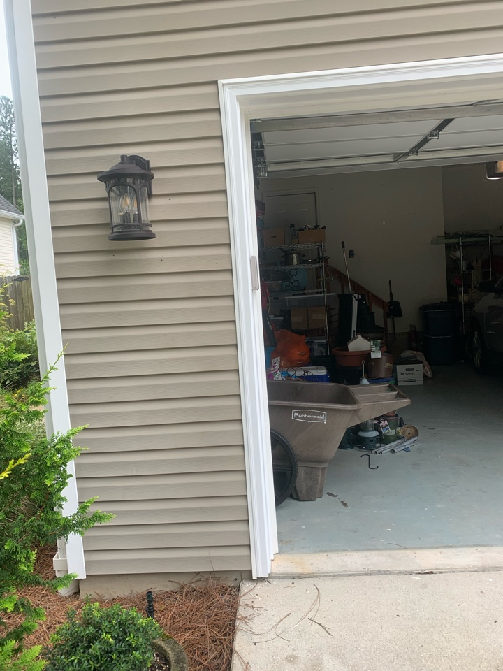 Aiken, SC - South Point Roofing and Construction removed and replaced existing old brick molding around a garage with new composite brick molding in Aiken, SC.