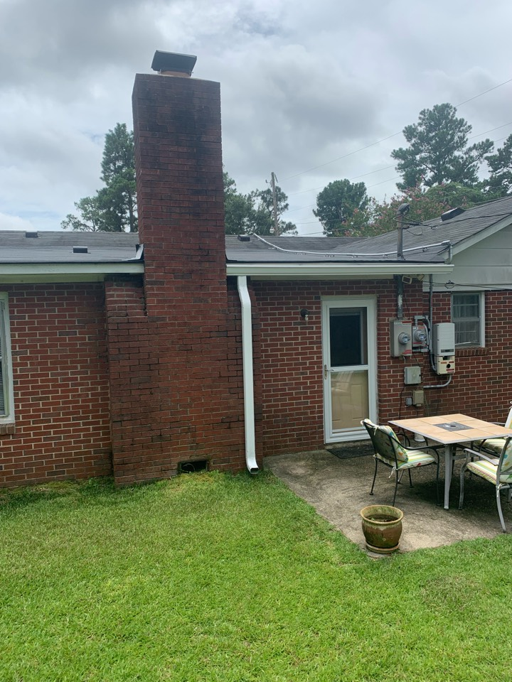 Aiken, SC - South Point Roofing and Construction performed a partial roof replacement as well as installed new 6 inch seamless gutters for a client in Aiken, SC.