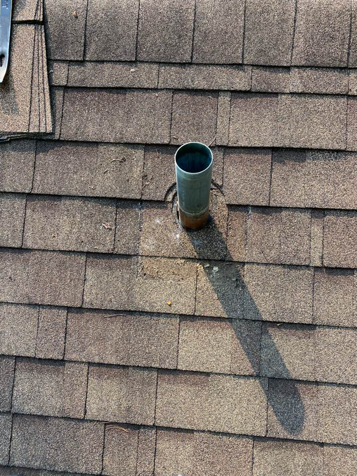 Aiken, SC - South Point Roofing and Construction repairing multiple leaks on home in Aiken SC. Leaks caused by failing valleys/ 3in1 plumbing boots and nail pops