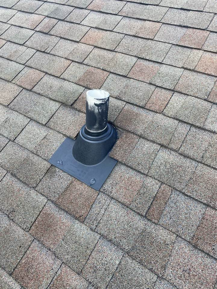 Aiken, SC - South Point Roofing and Construction installing new IPS 3 in 1 plumbing boots  on roof as well as seal up exposed nail heads causing roof leaks at residence in Woodside Plantation in Aiken SC