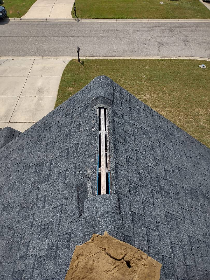 Aiken, SC - South Point Roofing and Construction is replacing wind blown shingles in Aiken, SC.