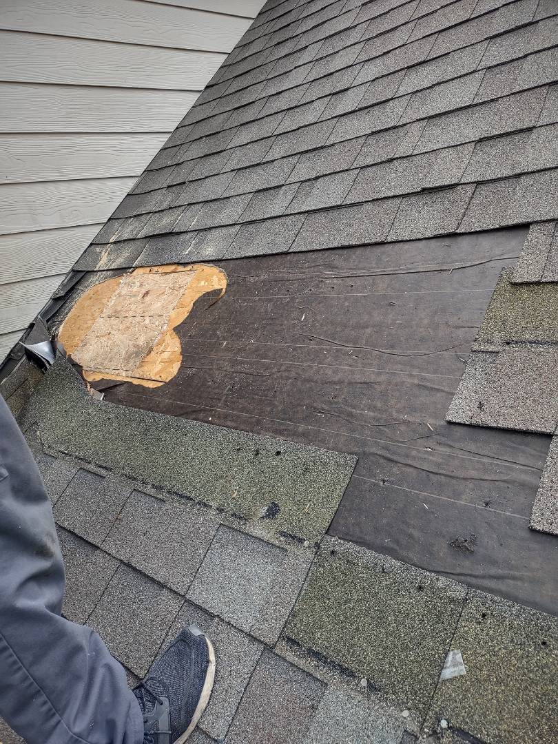 Aiken, SC - South Point Roofing and Construction is replacing decayed wood on a Residential home in Aiken, SC.