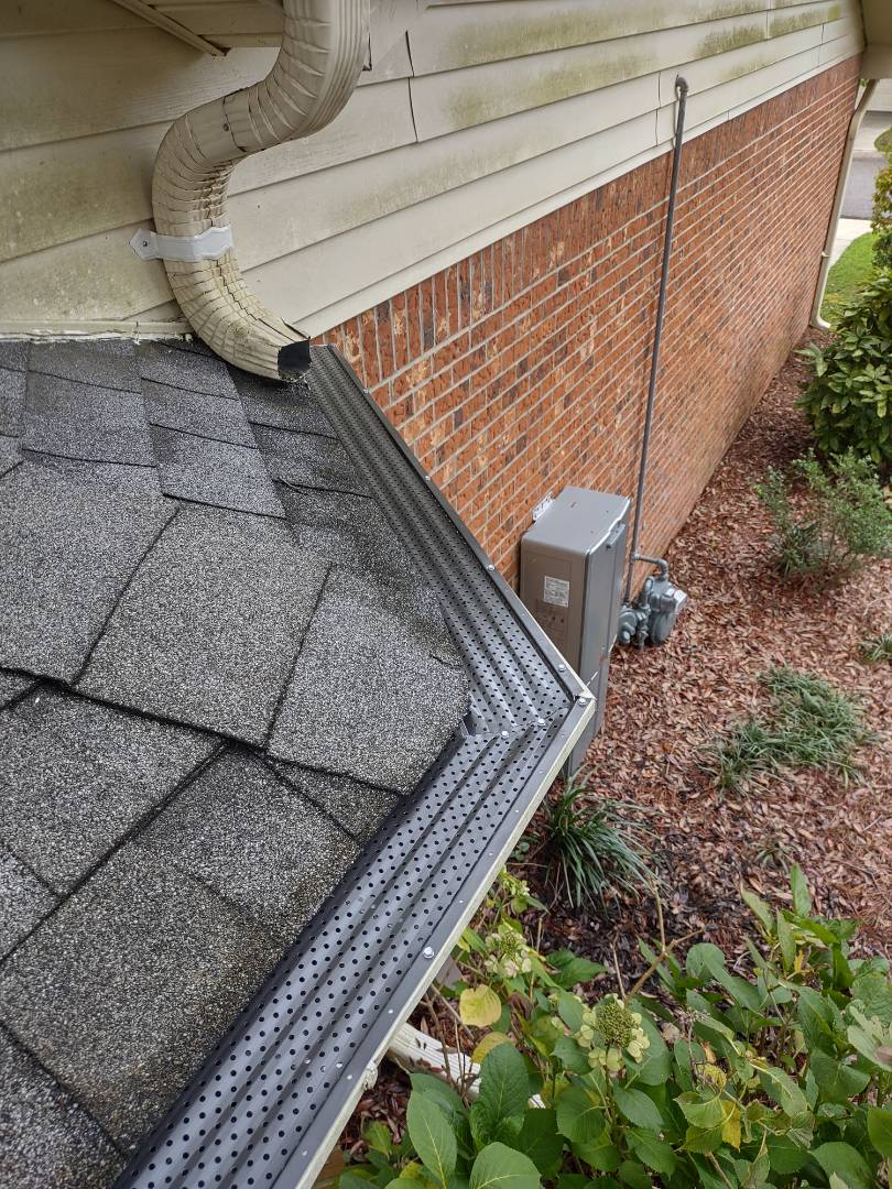 Aiken, SC - South Point Roofing and Construction is installing 5 and 6 inch Leaf Relief gutter guards in Aiken, SC.