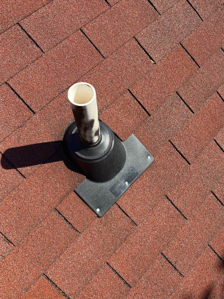 North Augusta, SC - South Point Roofing and Construction repairing roof leak caused by plumbing boots. Installing new IPS 3in1 style plumbing boots in Aiken SC