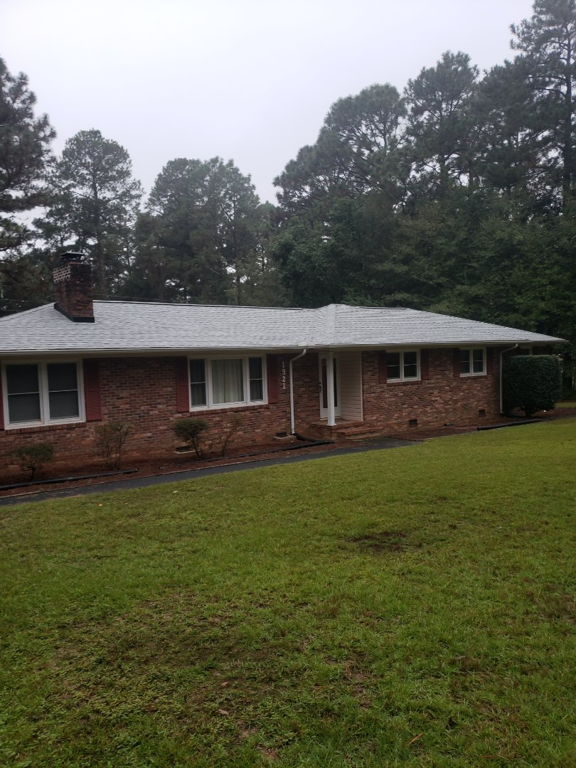 Aiken, SC - Residential roof replacement in aiken with South Point Roofing and Construction using atlas pinnacle pristine architectural shingles with scotchguard by 3M
