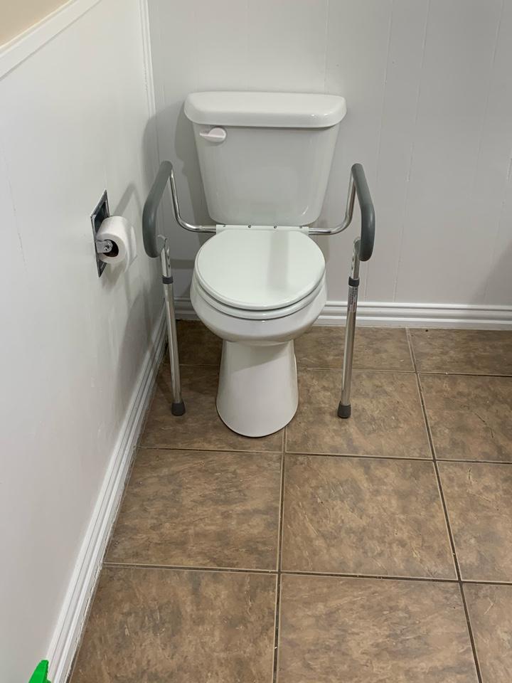 Handicap toilet installation in Stephenville.