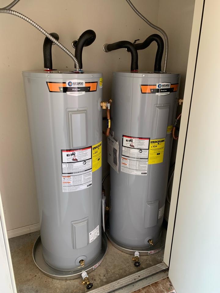 Hudson Oaks, TX - Water heater replacement in Hudson Oaks.