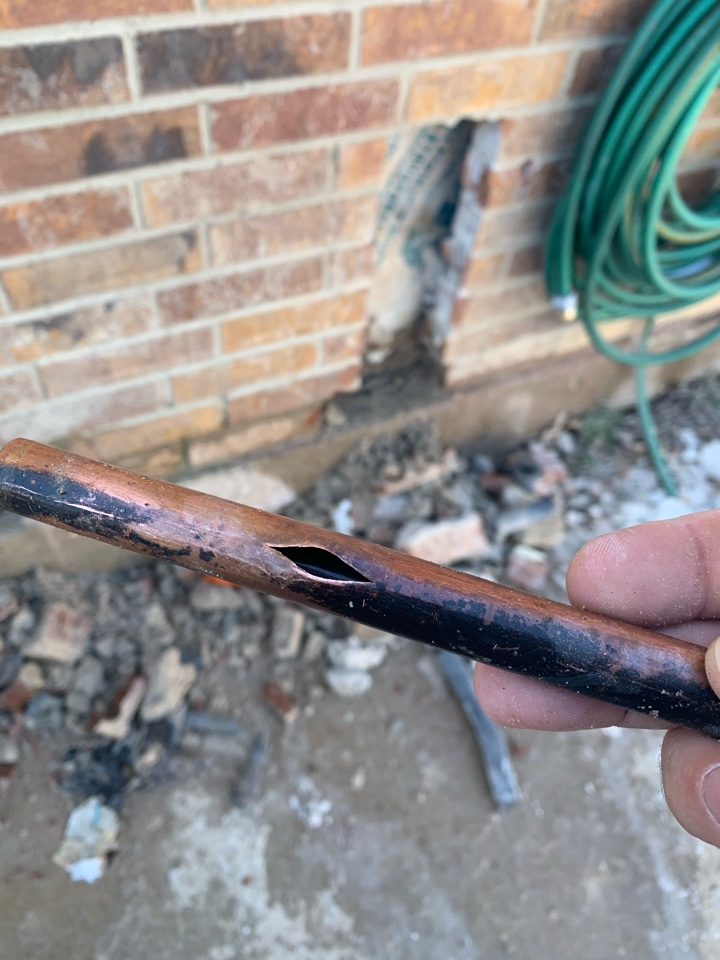 Crowley, TX - Frozen pipe repair in Crowley.