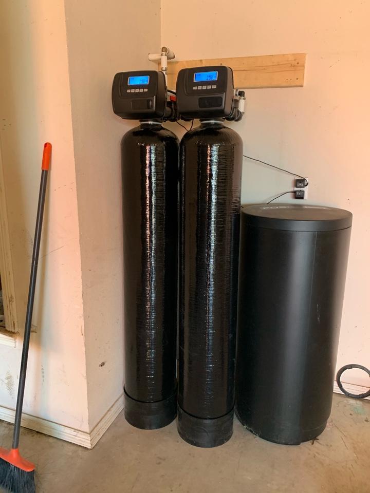 Aledo, TX - Water filtration system installation in Aledo.